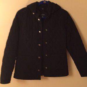 Braetan black hooded quilted winter coat S